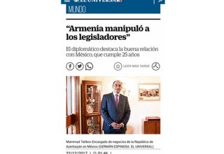 Mexican MPs visiting occupied Azerbaijani lands were manipulated by Armenia – media