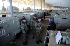 Azerbaijan's defense minister checks state of combat readiness of units in frontline zone (PHOTO) - Gallery Thumbnail