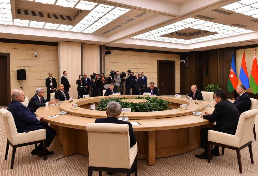 Ilham Aliyev attends CIS informal meeting in Moscow (PHOTO) - Gallery Image
