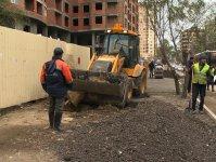 В Баку капитально ремонтируется еще одна улица (ФОТО) - Gallery Thumbnail