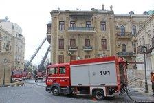 Пожар в жилом здании в центре Баку локализован (ФОТО) (Обновлено) - Gallery Thumbnail