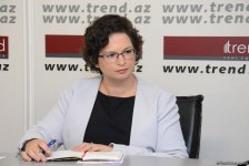 Deputy chief of Israel's diplomatic mission in Baku visits Trend News Agency (PHOTO) - Gallery Thumbnail