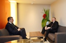 President Aliyev meets Georgian PM in Davos (PHOTO) - Gallery Thumbnail