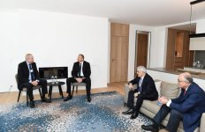 President Aliyev meets BP CEO Dudley in Davos (PHOTO) - Gallery Thumbnail