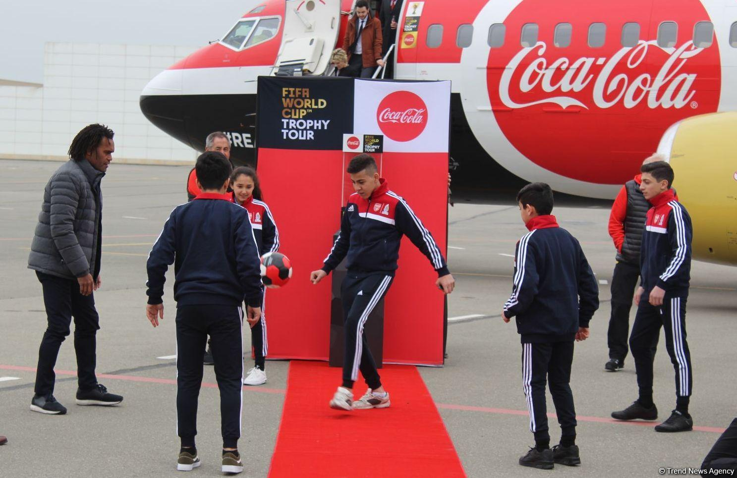 FIFA World Cup Trophy brought to Baku for the first time (PHOTO) - Gallery Image