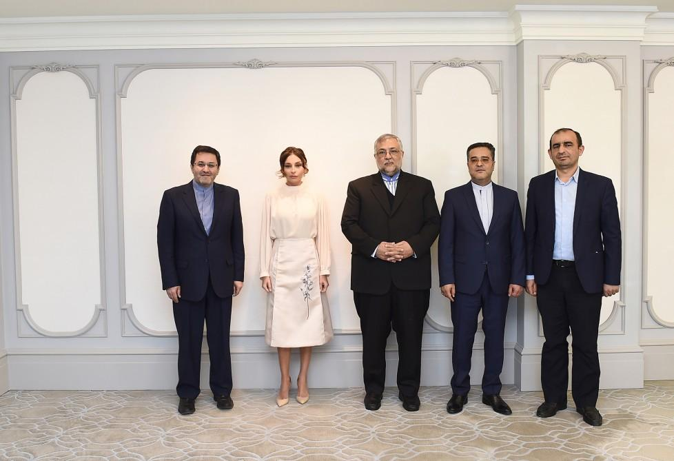 First VP Mehriban Aliyeva meets head of Iran's Islamic Culture and Relations Organization (PHOTO) - Gallery Image