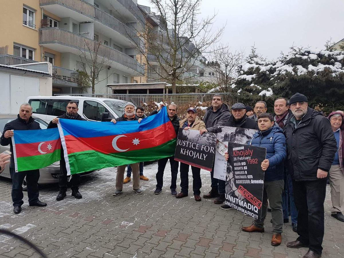 Azerbaijanis in Munich hold protest rally over Khojaly genocide (PHOTO)