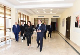 Azerbaijani First VP attends opening ceremony of Culture Center in Khazar district (PHOTO)