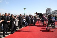 Leyla Aliyeva takes part in opening ceremony of sports ground at Seaside Boulevard (PHOTO) - Gallery Thumbnail