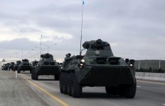 Azerbaijani Armed Forces' troops continue military drills (PHOTO/VIDEO) - Gallery Thumbnail
