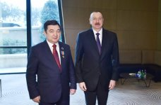 "President Ilham Aliyev awards  ""Dostlug"" Order to President of Int'l Turkish Academy (PHOTO) - Gallery Thumbnail"