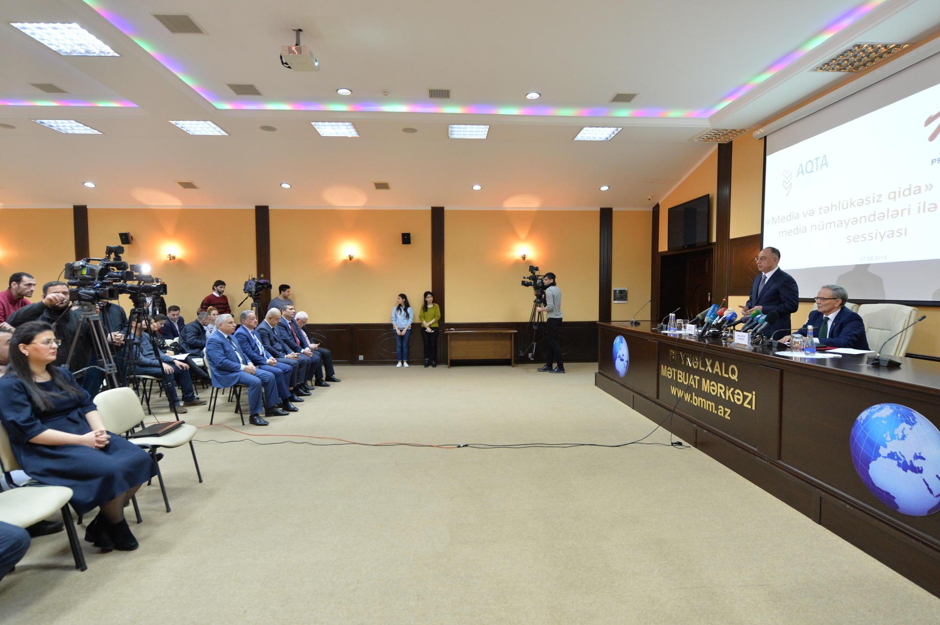 """""""Media və təhlükəsiz qida"""" mövzusunda brifinq keçirilib (FOTO) - Gallery Image"""