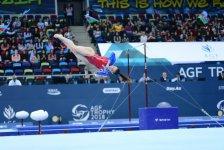 Bakıda idman gimnastikası üzrə Dünya Kubokunun sonuncu yarış günü başladı (FOTO) - Gallery Thumbnail