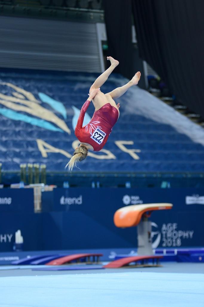 Bakıda idman gimnastikası üzrə Dünya Kubokunun sonuncu yarış günü başladı (FOTO) - Gallery Image