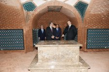 President Ilham Aliyev viewed newly-reconstructed Barda Mausoleum, Torpaggala Complex - Gallery Thumbnail