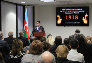 100th anniversary of 1918 Genocide against Azerbaijani people commemorated in Los Angeles (PHOTO)