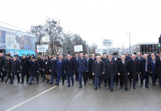 Thousands of Azerbaijanis march to Guba Genocide Memorial Complex (PHOTO)