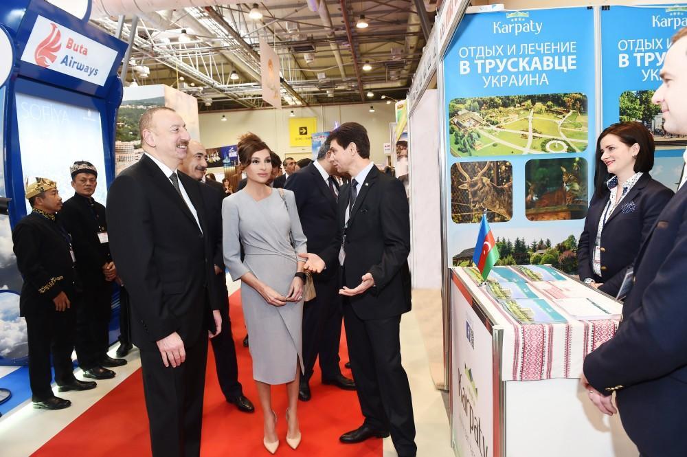 President Ilham Aliyev, First Lady Mehriban Aliyeva attend AITF 2018 fair (PHOTO) - Gallery Image