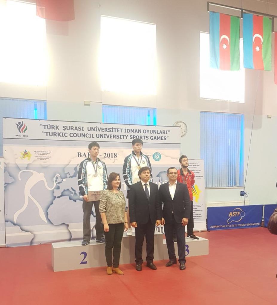 Stolüstü tennisçilərimiz Türk Şurası Üniversitet İdman Oyunlarının qalibidir (FOTO)