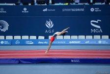 Bakıda batut gimnastikası və tamblinq üzrə Avropa çempionatında əsrarəngiz çıxışların FOTOLARI - Gallery Thumbnail