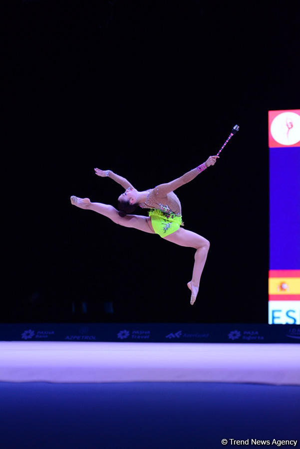 В Баку стартовал II день соревнований Кубка мира по художественной гимнастике (ФОТО) - Gallery Image