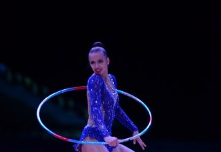 World Cup in Baku: Russian gymnast grabs gold medal in exercises with hoop