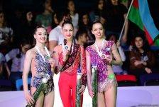 В Баку прошла церемония награждения призеров индивидуальных финалов Кубка мира по художественной гимнастике (ФОТО) - Gallery Thumbnail