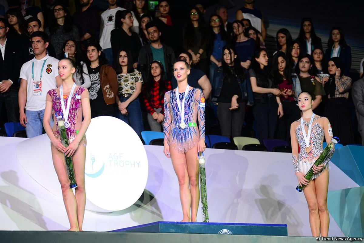 Bakıda bədii gimnastika üzrə Dünya Kubokunda qaliblər mükafatlandırılıb (FOTO) - Gallery Image
