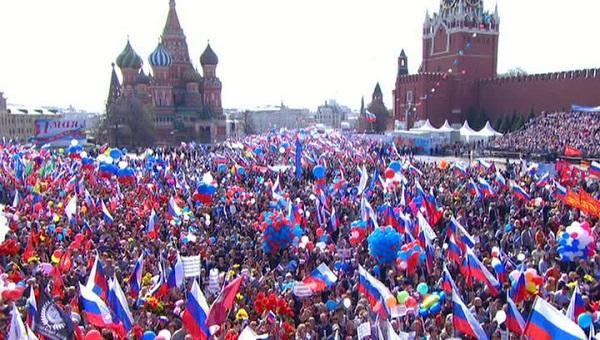 Some 130,000 people attend Labor Day march in Moscow