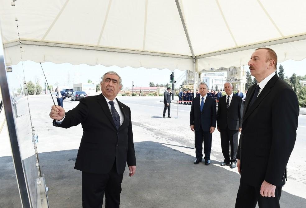 Ilham Aliyev inaugurates section of Khachmaz-Khudat highway after renovation (PHOTO) - Gallery Image