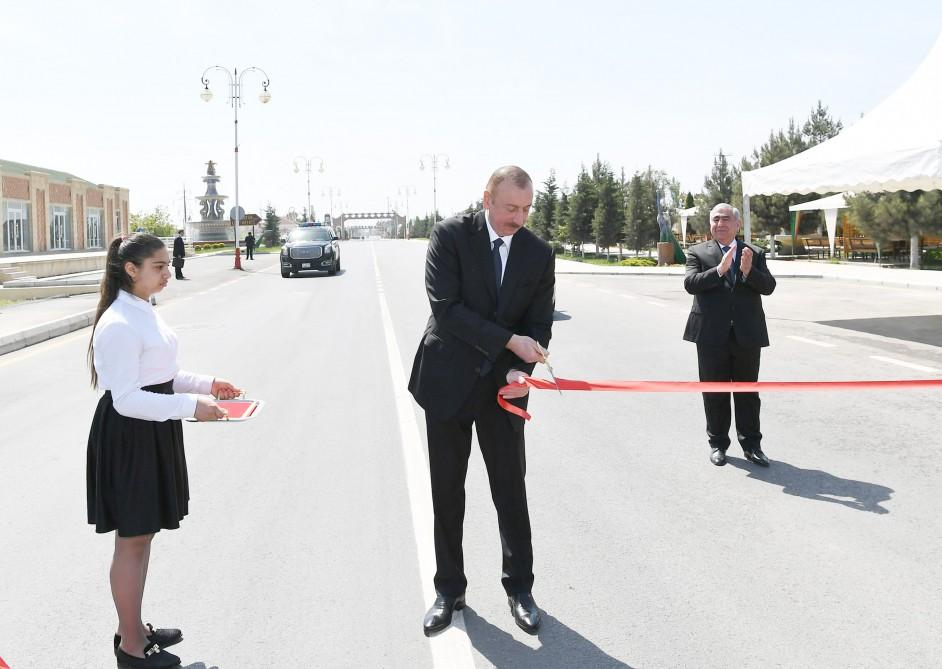 Ilham Aliyev inaugurates section of Khachmaz-Khudat highway after renovation (PHOTO)