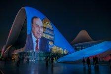Heydər Əliyev Mərkəzinin binası üzərində «Heydər Əliyev 95» kompozisiyası təqdim olunub (VİDEO, FOTO) - Gallery Thumbnail