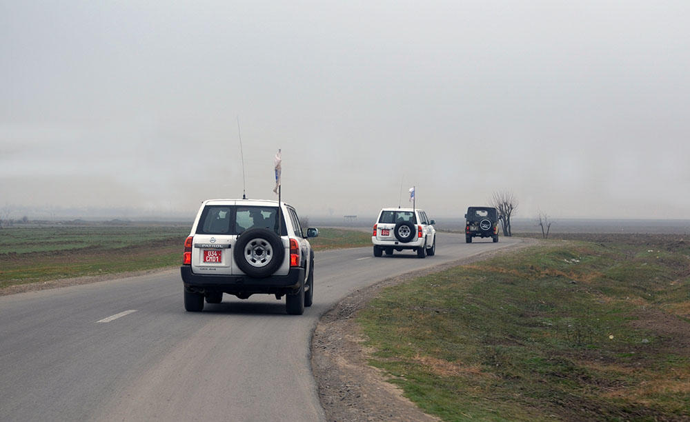 Ceasefire monitoring on contact line of Azerbaijani, Armenian troops ends with no incident