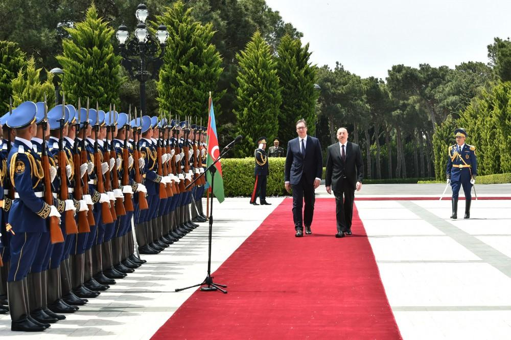 Official welcome ceremony held for Serbian President Aleksandar Vucic (PHOTO)