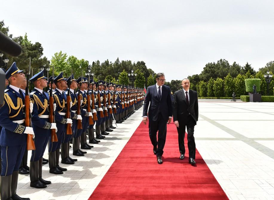 Official welcome ceremony held for Serbian President Aleksandar Vucic (PHOTO) - Gallery Image