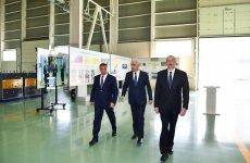 Prezident İlham Əliyev Bakıda yüksəkgərginlikli avadanlıqlar zavodunun açılışında iştirak edib (FOTO) (YENİLƏNİB) - Gallery Thumbnail