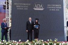 Президент Ильхам Алиев и Первая леди Мехрибан Алиева приняли участие на дне выпускника  в Университете АДА (ФОТО) - Gallery Thumbnail