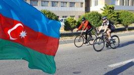 Bike ride dedicated to 100th anniversary of Azerbaijan Democratic Republic held in Baku (PHOTO) - Gallery Thumbnail