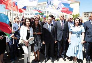 Вице-президент Фонда Гейдара Алиева Лейла Алиева приняла участие в открытии Азербайджанского делового центра в Астрахани (ФОТО)