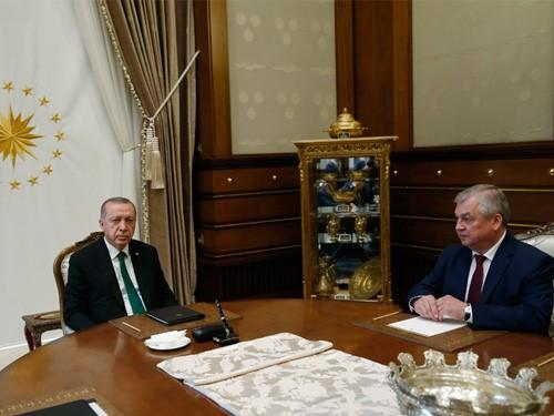 Turkey's president meets with Russian president's special envoy on Syria