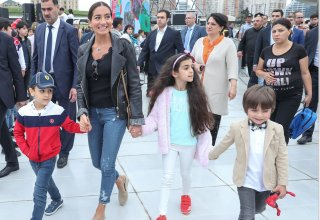 President of Baku Media Center Arzu Aliyeva attends children's festival (PHOTO/VIDEO)