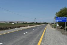 President Aliyev attends inauguration of highway in Goranboy district (PHOTO) - Gallery Thumbnail