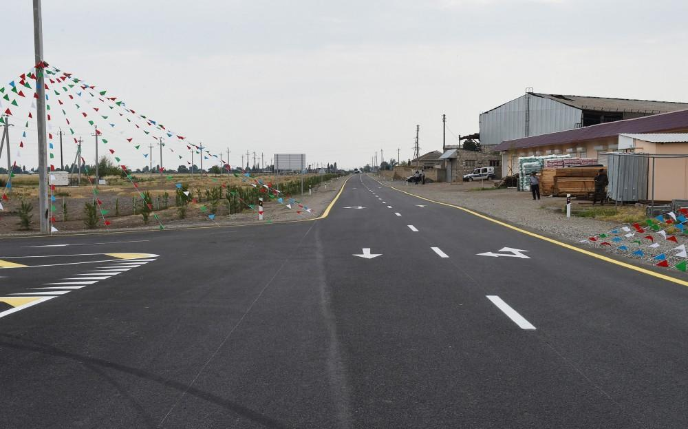President Aliyev opens reconstructed highway in Goranboy (PHOTO) - Gallery Image
