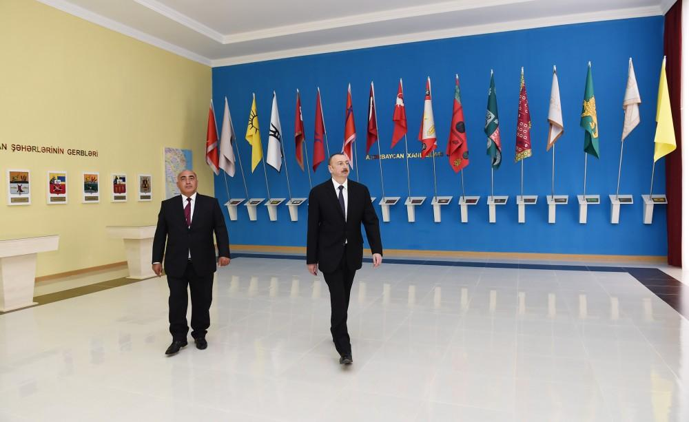 President Aliyev attends opening of Flag Museum in Goranboy
