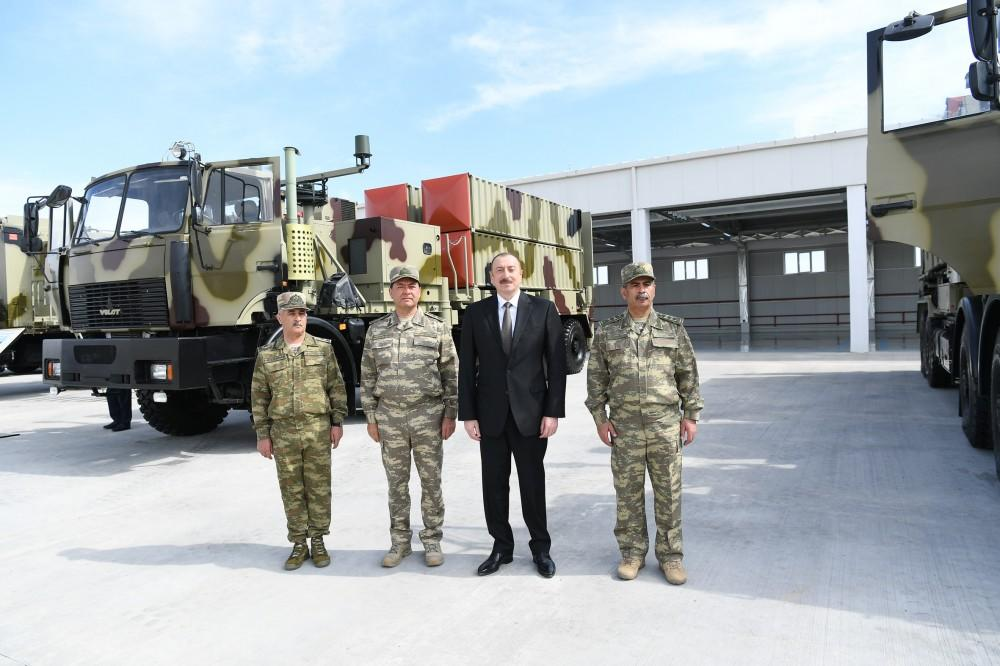 President Aliyev inaugurates Defense Ministry's military unit (PHOTO) - Gallery Image