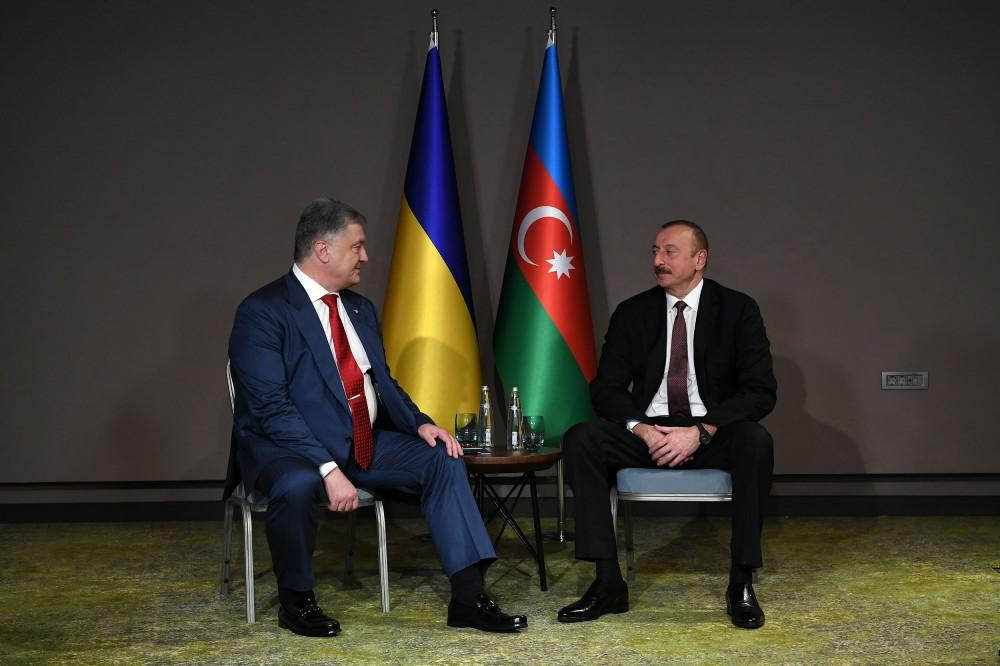 Presidents of Azerbaijan, Ukraine meet in Turkey (PHOTO)