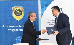 Azerbaijan's ministries of communications and taxes sign protocols of agreement (PHOTO) - Gallery Thumbnail