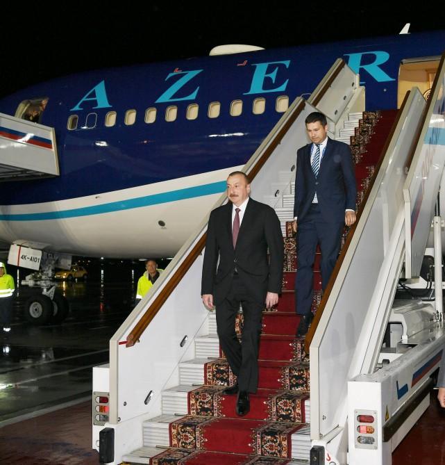 Президент Азербайджана Ильхам Алиев прибыл с рабочим визитом в Россию (ФОТО) - Gallery Image