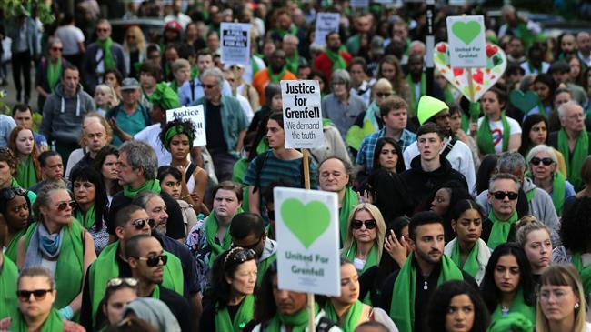 Protesters demand justice for Grenfell in London