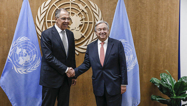 Lavrov, UN chief discuss global issues over phone
